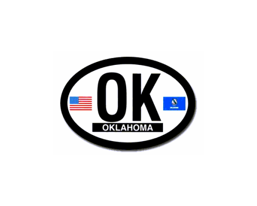 Oklahoma Oval Sticker