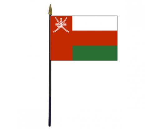 Oman Stick Flag - 4x6""