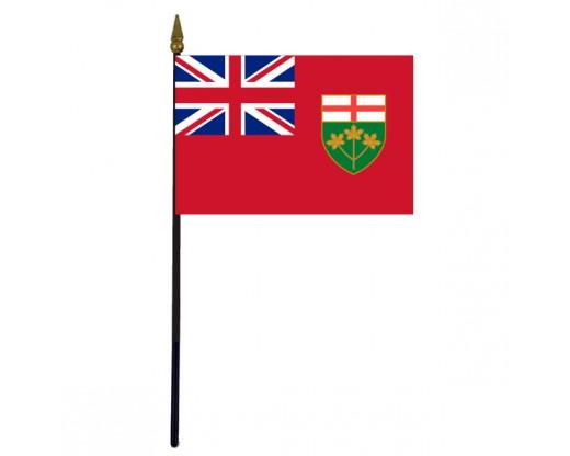 """Ontario Stick Flag - 4x6"""""""