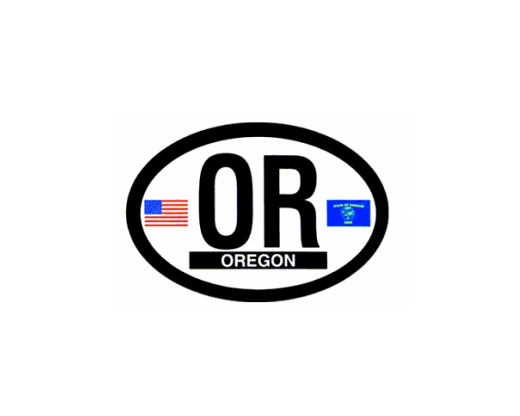 Oregon Oval Sticker