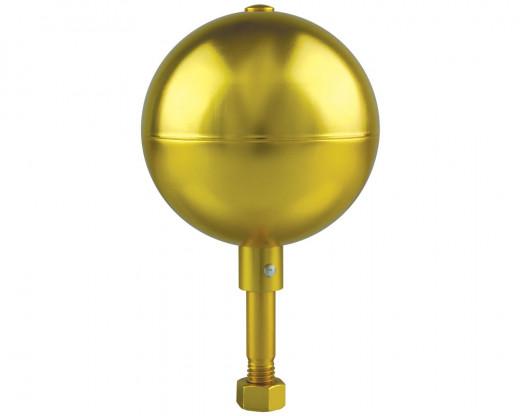 Gold Aluminum Ball Ornament