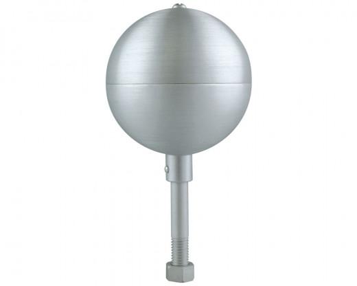 Silver Clear Aluminum Ball Ornament