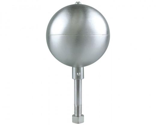 Silver Satin Aluminum Ball Ornament