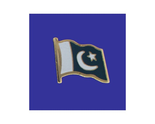 Pakistan Lapel Pin (Single Waving Flag)