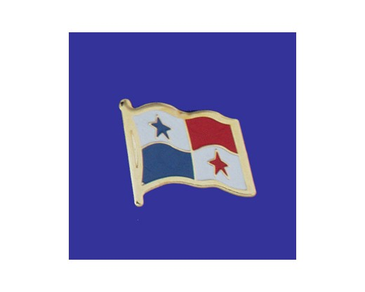Panama Lapel Pin (Single Waving Flag)