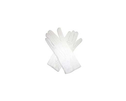 White Cotton Parade Gloves