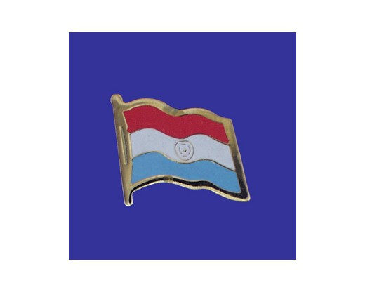 Paraguay Lapel Pin (Single Waving Flag)