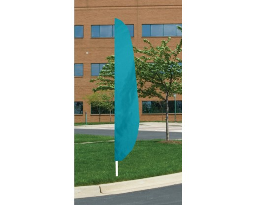 "12'x26"" Blank Feather Flag, 3"" Capped Pole Sleeve, Parrot Blue"