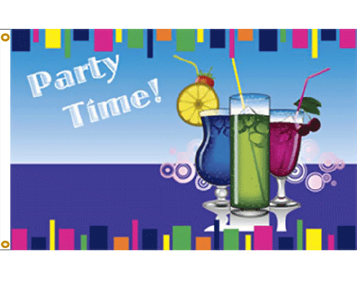 Party Time Drinks Flag