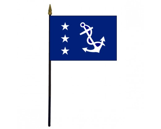 Past Commodore Stick Flag - 4x6""