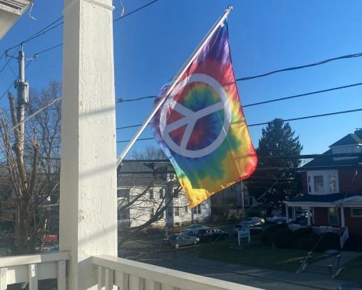 Peace Flag on House
