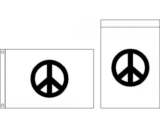 Peace Sign Flag - 2x3'