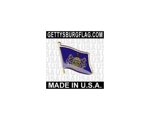 Pennsylvania State Flag Lapel Pin (Single Waving Flag)