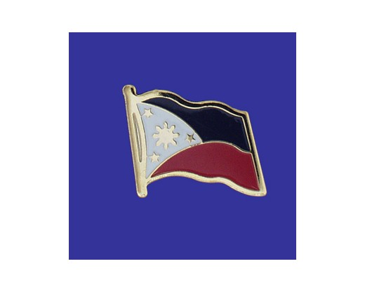 Philippines Lapel Pin (Single Waving Flag) (Imported - Close Out)