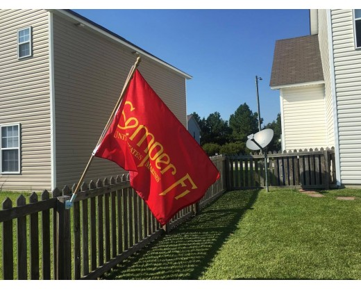 Semper Fi Flag outside