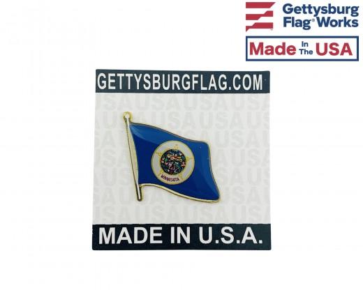 Minnesota lapel flag pin