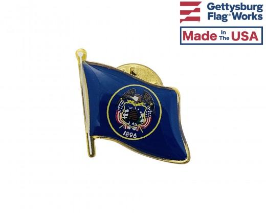 Utah State Flag Lapel Pin (Single Waving Flag)