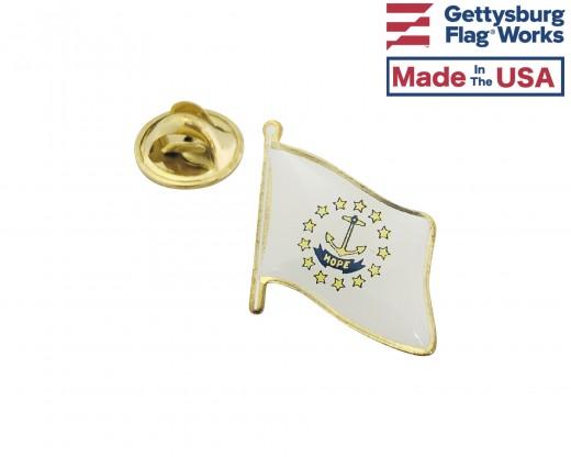 Rhode Island State Flag Lapel Pin (Single Waving Flag)