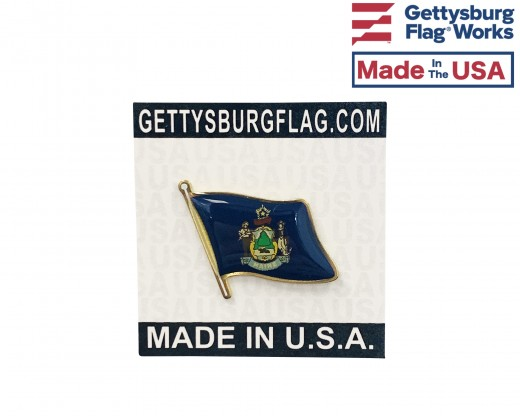 Maine State Flag Lapel Pin (Single Waving Flag)