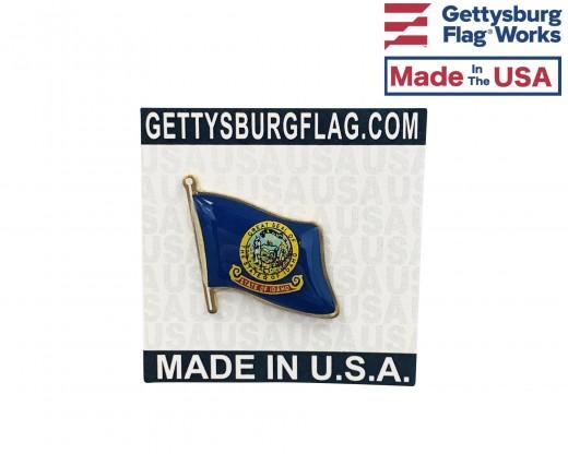 Idaho State Flag Lapel Pin (Single Waving Flag)