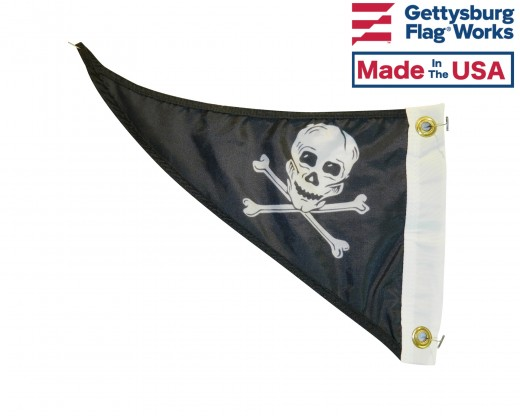 Pirate Triangle Pennant - 10x15""