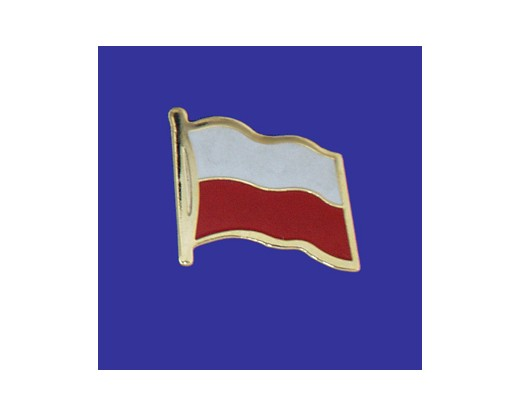 Poland Lapel Pin (Single Waving Flag)