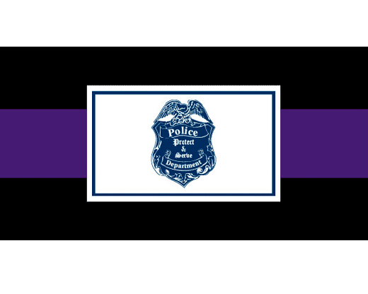 Police Department Casket Drape