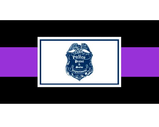 Police Department Casket Drape