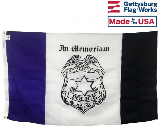 Police Mourning Flag - 3x5'