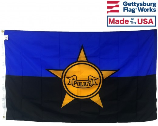 Police Remembrance Flag - 3x5' Front