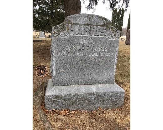 Police grave marker at grave