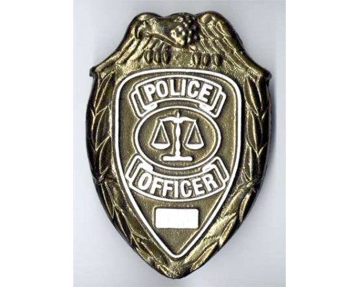 Police Officer Aluminum Grave Marker