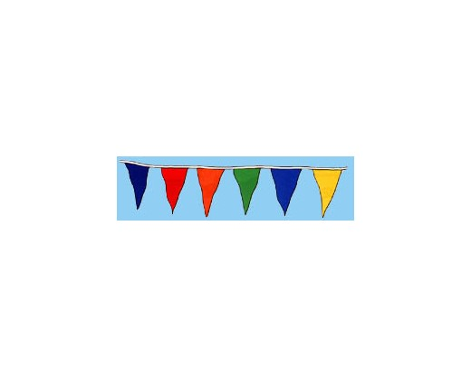 Multi-Color Triangle Pennants
