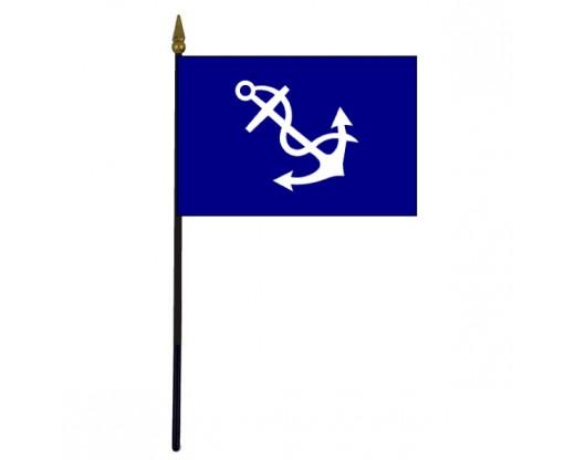 """Port Captain Stick Flag - 4x6"""""""