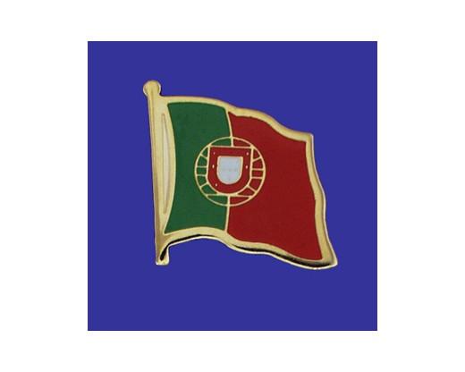 Portugal Lapel Pin (Single Waving Flag)