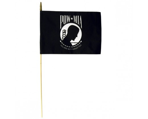 "POW/MIA Stick Flag 30"" - 12x18"""