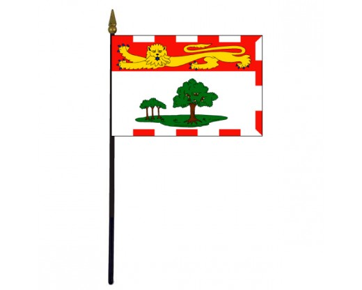 Prince Edward Island Stick Flag - 4x6""