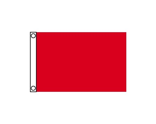 Blank Nylon Flag, Header & Grommets, Canada Red - 2.5x4'