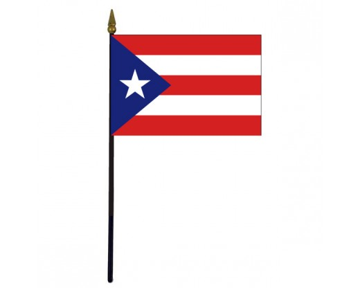 "Puerto Rico Stick Flag - 4x6"""