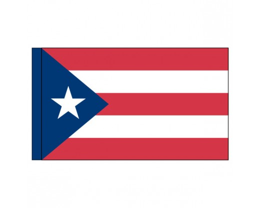 "Puerto Rico Flag, Nylon, 3"" Pole Sleeve - 3x5'"