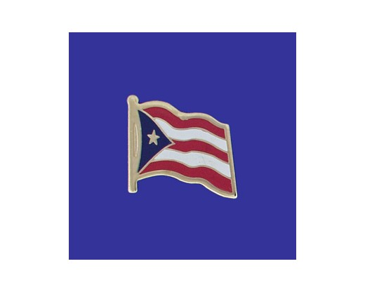 Puerto Rico Lapel Pin (Single Waving Flag) (Imported - Close Out)