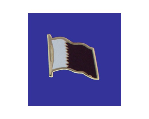 Qatar Lapel Pin (Single Waving Flag)