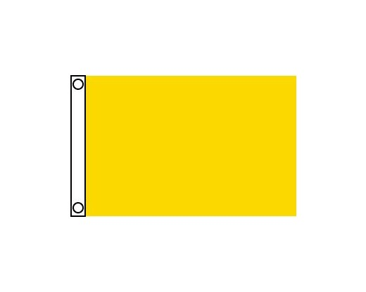 Blank Nylon Flag, Header & Grommets, FM Yellow - 2.5x4'