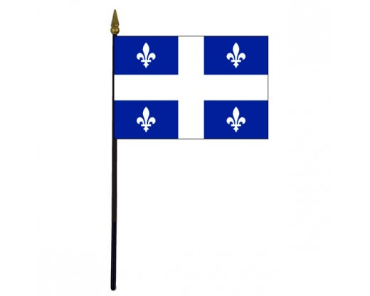 Quebec Stick Flag - 4x6""