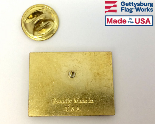 Back of Pride Lapel Pin (Double Waving Flag w/USA)