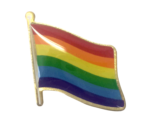 Pride Lapel Pin (Single Waving Flag)