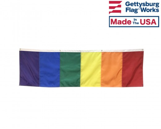 Rainbow Banner Back