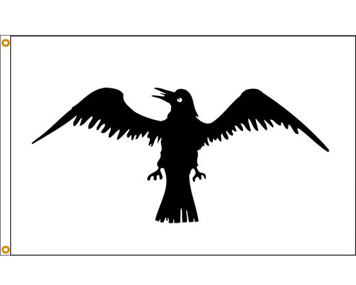 Black Raven Flag - 3x5'