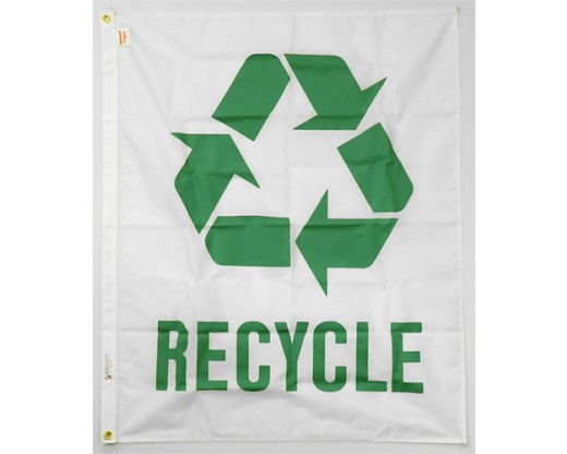 Recycle Flag - 34x44""