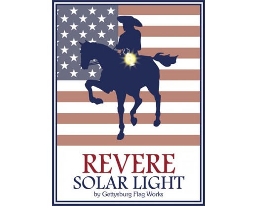 Revere Solar Flag Pole Lighting Logo